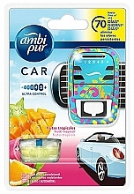Perfumería y cosmética Ambientador de coche , frutas tropicales - Ambi Pur (difusor/1ud+relleno/7ml)
