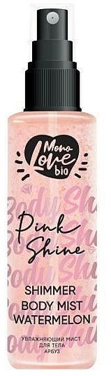 Bruma corporal con aroma a sandía - MonoLove Bio Shimmer Body Mist Watermelon Pink Shine