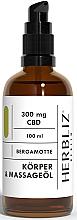 Perfumería y cosmética Aceite de masaje corporal de bergamota - Herbliz CBD