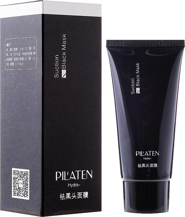 Mascarilla facial peel-off para puntos negros con carbón activado - Pilaten Hydra Suction Black Mask