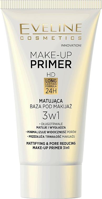 Prebase 3 en 1, matificante, hidratante y protectora - Eveline Cosmetics Make-up Primer 3v1