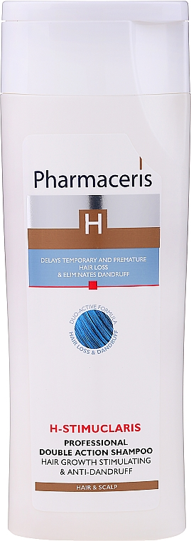 Champú con cafeína y D-pantenol - Pharmaceris H-Stimupeel Professional Double Action Shampoo Hair Growth Stimulating & Anti-Dandruff