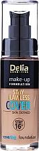 Perfumería y cosmética Base de maquillaje de larga duración con vitaminas C y E - Delia Cosmetics Stay Flawless Cover