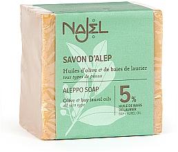 Perfumería y cosmética Jabón de alepo con aceite de laurel 5% y oliva - Najel Aleppo Soap 5% Bay Laurel Oil
