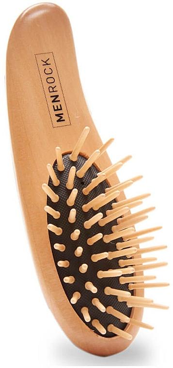 Cepillo de madera para barba - Men Rock Beard Brush