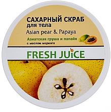 Perfumería y cosmética Exfoliante corporal de azúcar con pera asiática y papaya - Fresh Juice Asian Pear & Papaya
