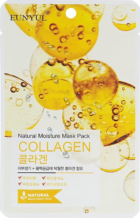 Mascarilla facial natural de tejido con colágeno - Eunyul Natural Moisture Mask Pack Collagen