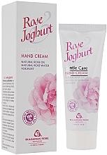 Perfumería y cosmética Crema de manos hidratante con aceite natural de rosas - Bulgarian Rose Rose & Joghurt