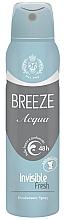 Perfumería y cosmética Desodorante spray - Breeze Acqua Invisible Fresh Deodorante Spray 48H