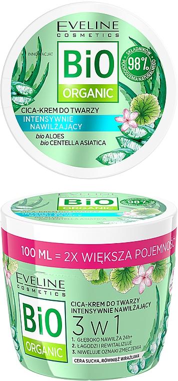 Crema facial bio orgánica con extracto de cica - Eveline Cosmetics Bio Organic Face Cream