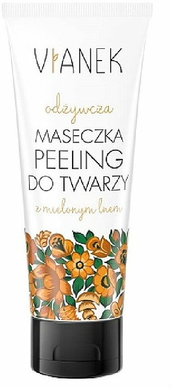 Mascarilla peeling facial nutritiva con extracto de lino y aceite de espino amarillo - Vianek Face Mask