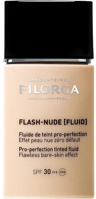 Base de maquillaje fluida de larga duración con ácido hialurónico, SPF 30 - Filorga Flash Nude SPF 30