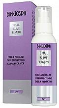Perfumería y cosmética Crema hidratante e iluminadora con baba de caracol para rostro y escote - BingoSpa Snail Slime Remedy Face And Neckline Skin Brightening Extra Hydrator