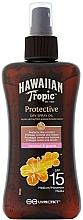 Perfumería y cosmética Aceite seco para bronceado con coco y guayaba - Hawaiian Tropic Protective Dry Spray Sun Oil SPF 15