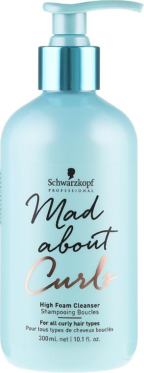 Champú para rizos con aceite de ricino - Schwarzkopf Professional Mad About Curls High Foam Cleanser Shampoo