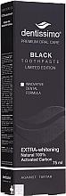 Perfumería y cosmética Pasta dental con carbón activo y extracto de geranio - Dentissimo Extra Whitening Black