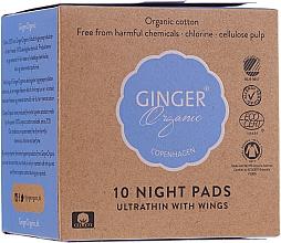 Perfumería y cosmética Compresas con alas de noche ultrafinas de algodón, eco - Ginger Organic