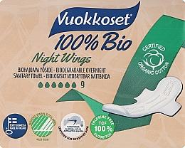 Perfumería y cosmética Compresas de noche con alas, 9 uds. - Vuokkoset Bio Night Wings
