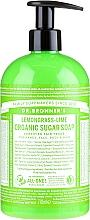 Perfumería y cosmética Jabón de manos líquido de azúcar, limoncillo y lima - Dr. Bronner's Organic Sugar Soap Lemongrass Lime