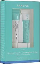 Perfumería y cosmética Set de limpieza intensiva de poros - Laneige Mini Pore Heating & Clean Duo (mascarilla/15ml + gel/15ml)