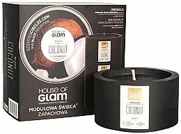 Perfumería y cosmética Vela aromática natural de soja, coco - House of Glam Black Coconut Candle