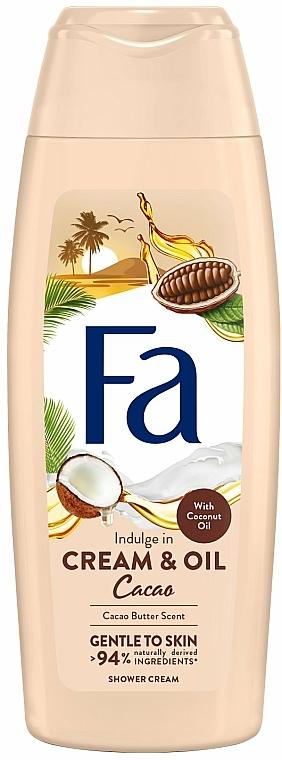 Crema de ducha con aceite coco y aroma de manteca de cacao - Fa Cacao Butter And Coco Oil
