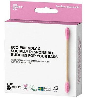 Bastoncillos de bambú rosa, 100uds. - The Humble Co. Cotton Swabs Pink