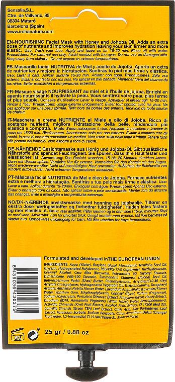 Mascarilla facial nutritiva de miel y aceite de jojoba - Iroha Nature Nourishing Honey Creamy Mask — imagen N2