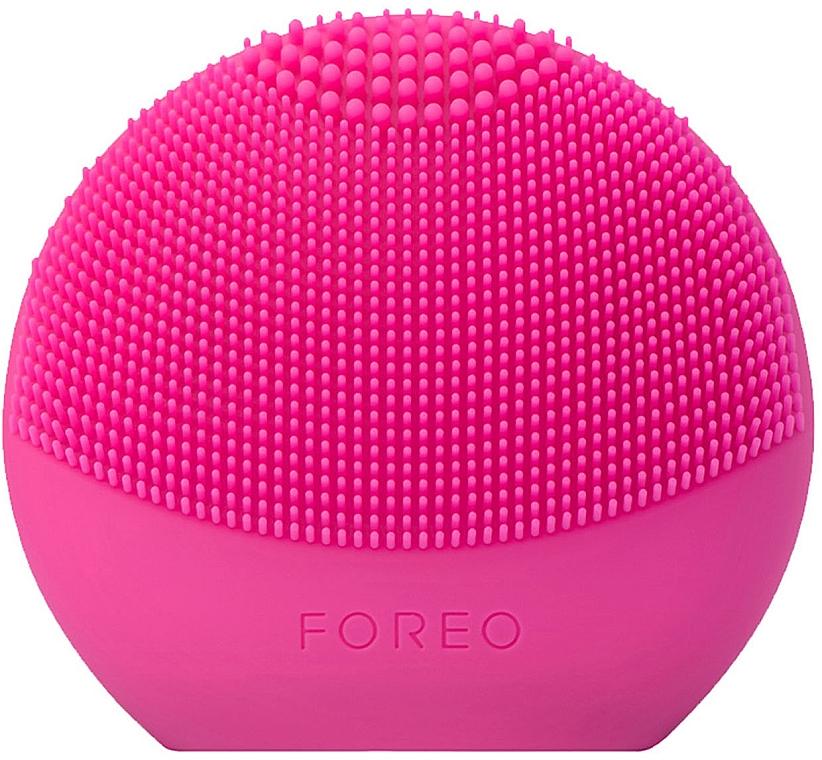 Cepillo de limpieza facial inteligente de silicona 2 en 1, fucsia - Foreo Luna Fofo Smart Facial Cleansing Brush Fuchsia