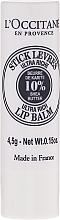 Perfumería y cosmética Bálsamo labial ultra rico con 10% manteca de karité - L'occitane Ultra Rich Stick Lip Balm