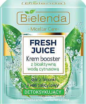Crema booster facial detoxificante con agua cítrica bioactiva - Bielenda Fresh Juice Booster