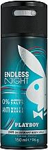 Perfumería y cosmética Playboy Endless Night For Him - Desodorante spray antimanchas, sin sales de aluminio