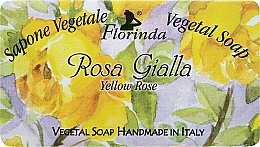 Perfumería y cosmética Jabón artesanal vegetal con aroma a rosa amarilla - Florinda Sapone Vegetal Soap Yellow Rose