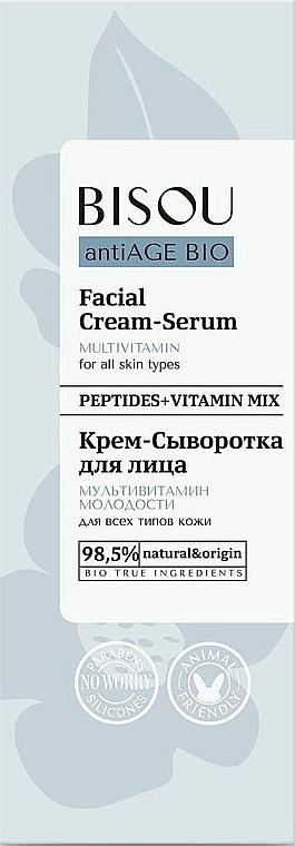 Crema-sérum facial antiedad multivitamínico - Bisou AntiAge Bio Facial Cream Serum