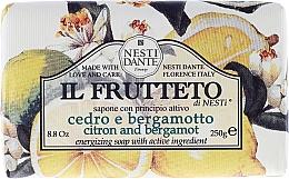 Perfumería y cosmética Jabón energizante con limón & bergamota - Nesti Dante Il Frutteto Soap