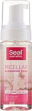 Perfumería y cosmética Espuma micelar de limpieza facial para piel sensible con jugo de aloe vera - Seal Cosmetics Micellar Cleansing Foam