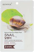 Perfumería y cosmética Mascarilla facial natural de tejido con baba de caracol - Eunyul Natural Moisture Mask Pack