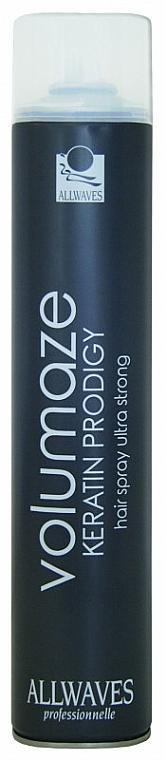 Laca con queratina, fijación extra fuerte - Allwaves Volumaze Keratin Prodigy Hair Spray Ultra Strong