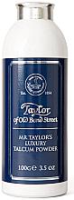 Perfumería y cosmética Taylor of Old Bond Street Mr Taylor Luxury Talcum Powder - Talco aftershave con aroma a ámbar y almizcle