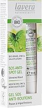 Gel antiacné con menta orgánica, zinc y ácido salicílico - Lavera SOS Spot Gel — imagen N1