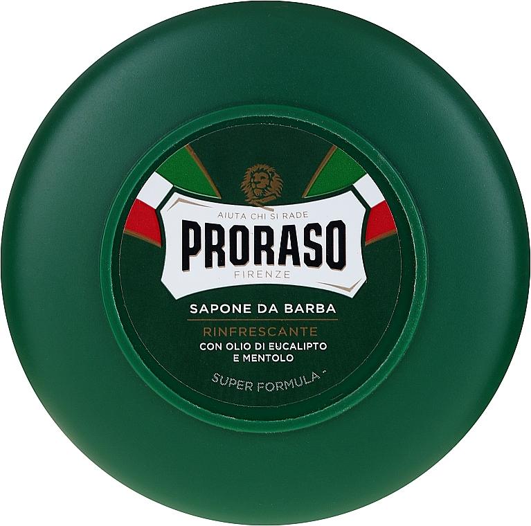 Jabón de afeitar con aceite de eucalipto y mentol - Proraso Green Shaving Soap