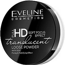 Perfumería y cosmética Polvo suelto de maquillaje fijador mate de seda - Eveline Cosmetics Full HD Soft Focus Translucent Loose Powder