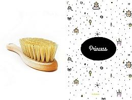 Perfumería y cosmética Set infantil - LullaLove Princess (cepillo de cerdas naturales + muselina de algodón 40x40 cm)