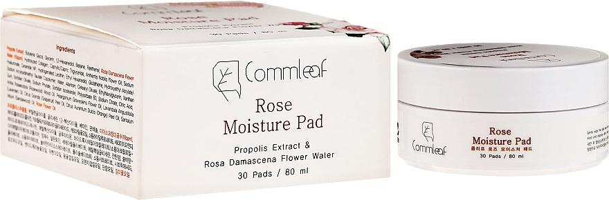 Discos desmaquillantes hidratantes con agua de rosa - Commleaf Rose Moisture Pad
