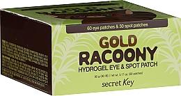 Perfumería y cosmética Mascarilla parches para contorno de ojos con oro - Secret Key Gold Racoony Hydrogel Eye Spot Patch