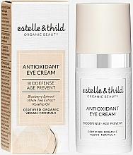 Perfumería y cosmética Crema orgánica para contorno de ojos antioxidante con agua de rosa Damascena - Estelle & Thild Biodefense Antioxidant Eye Cream