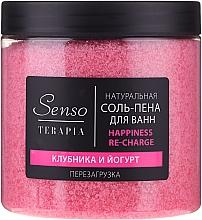 Perfumería y cosmética Sales-espuma de baño naturales con extractos de fresa y yogur - Senso Terapia Happines Re-Charge