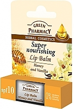 Perfumería y cosmética Bálsamo labial con miel y vainilla - Green Pharmacy Lip Balm With Honey And Vanilla