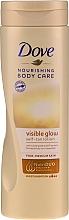 Perfumería y cosmética Loción corporal autobronceadora - Dove Visible Glow Gradual Self-Tan Lotion Fair-Medium Skin