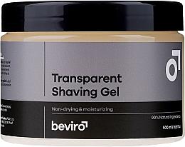 Perfumería y cosmética Gel de afeitar, transparente - Beviro Transparent Shaving Gel